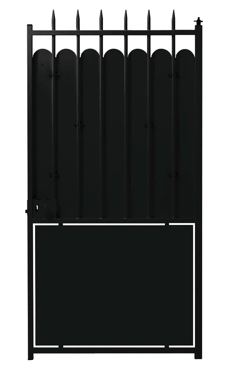 portillon battant acier brut a peindre excalibur l 100x h 201 cm