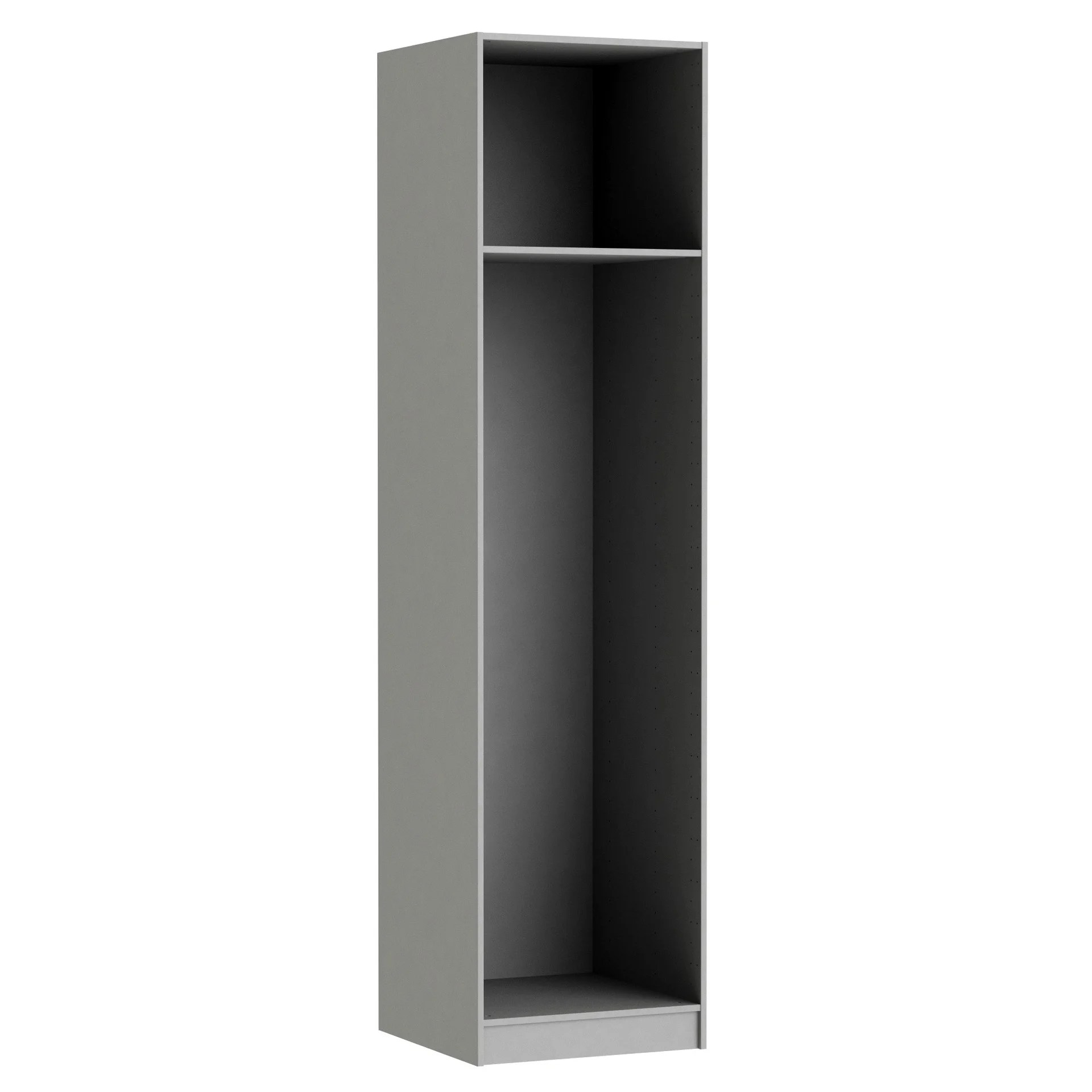 Caisson Armoire Spaceo Home Anthracite H 240 X L 60 X P 60 Cm Leroy Merlin