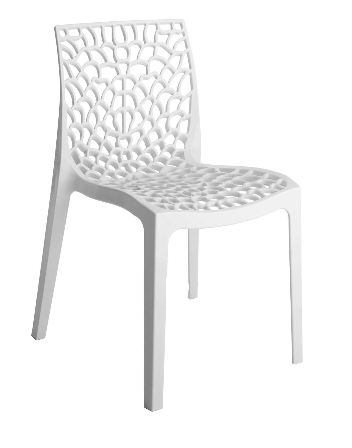 chaise de jardin en polypropylene grafik blanc
