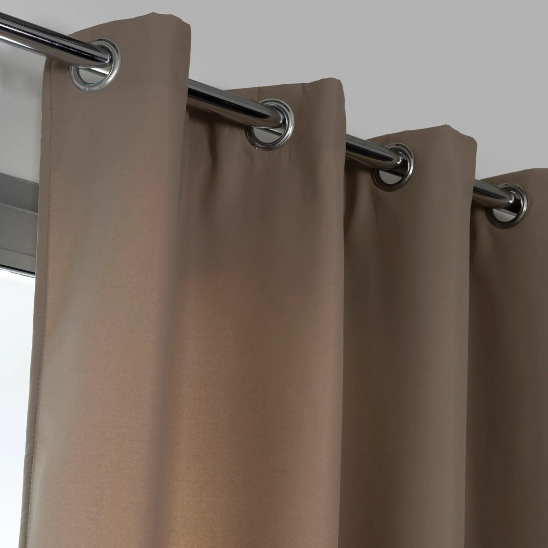 rideau obscurcissant thermique stop froid plus beige l 140 x h 250 cm