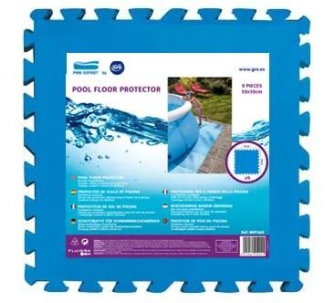 tapis de sol compose de 9 dalles pool expert l 50 x l 50 cm x h 4 5 mm