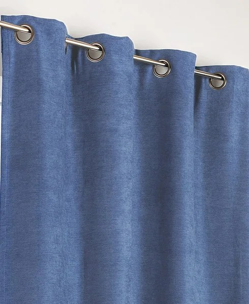 rideau occultant thermique alaska bleu petrole l 140 x h 260 cm
