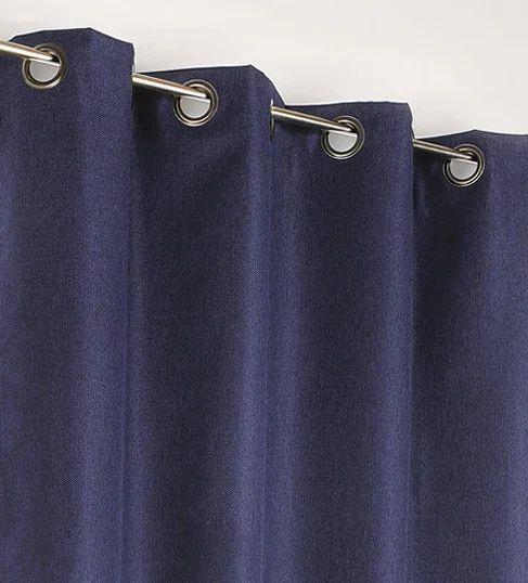 rideau occultant calypso bleu marine et blanc l 140 x h 240 cm