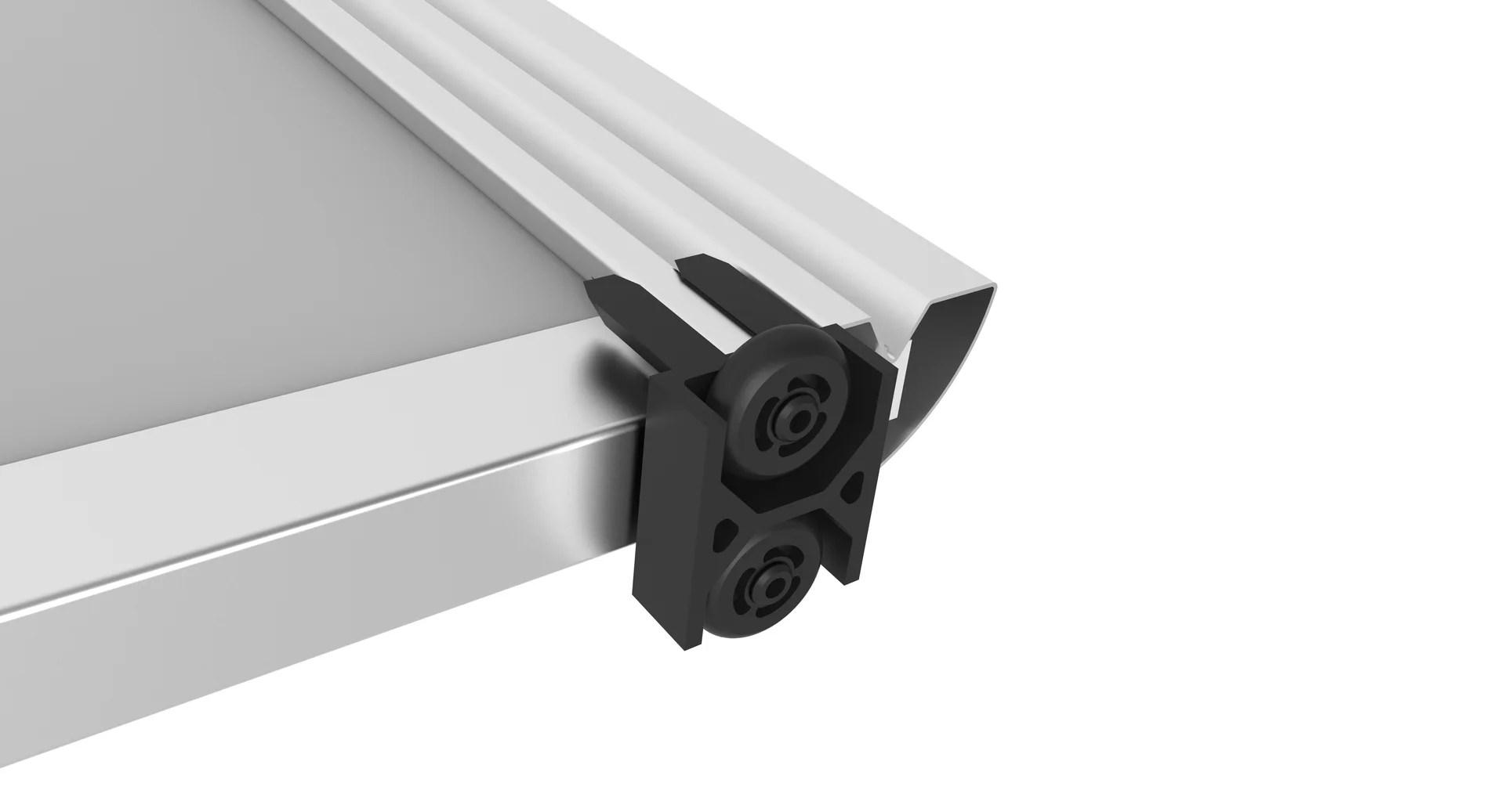 kit guide spaceo laque aluminium l 15 7 cm
