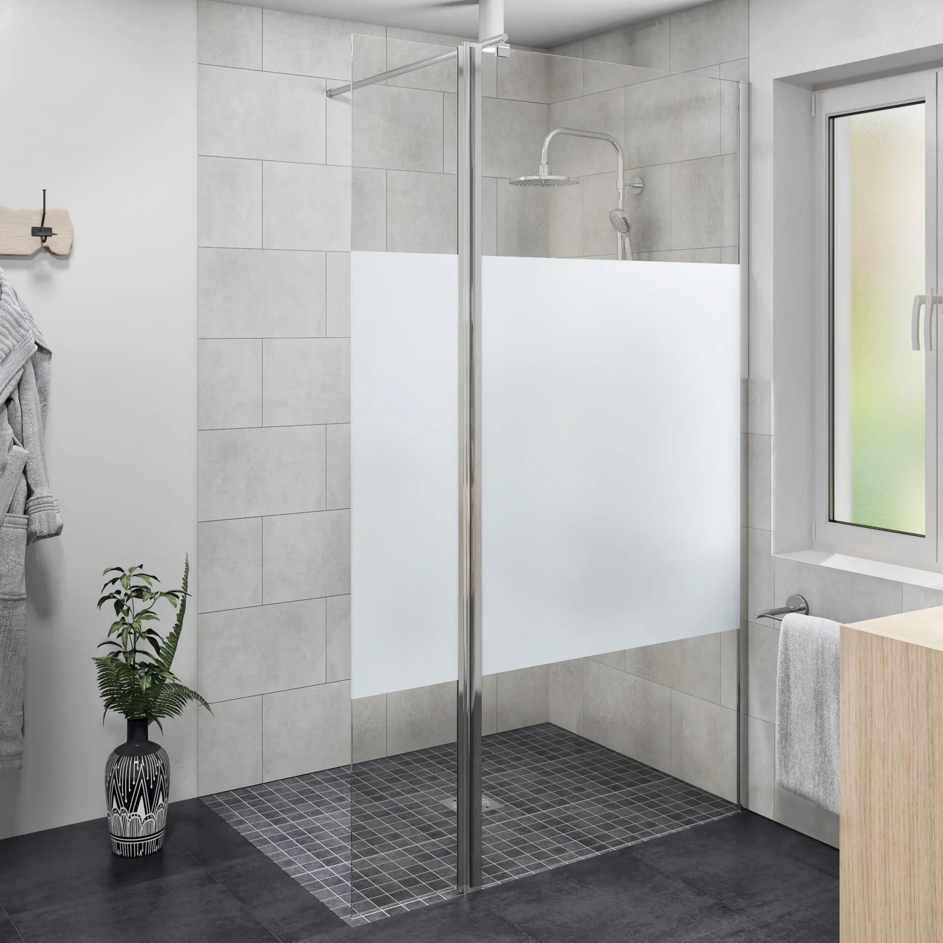 douche a l italienne easy avec receveur lux 90x120 cm