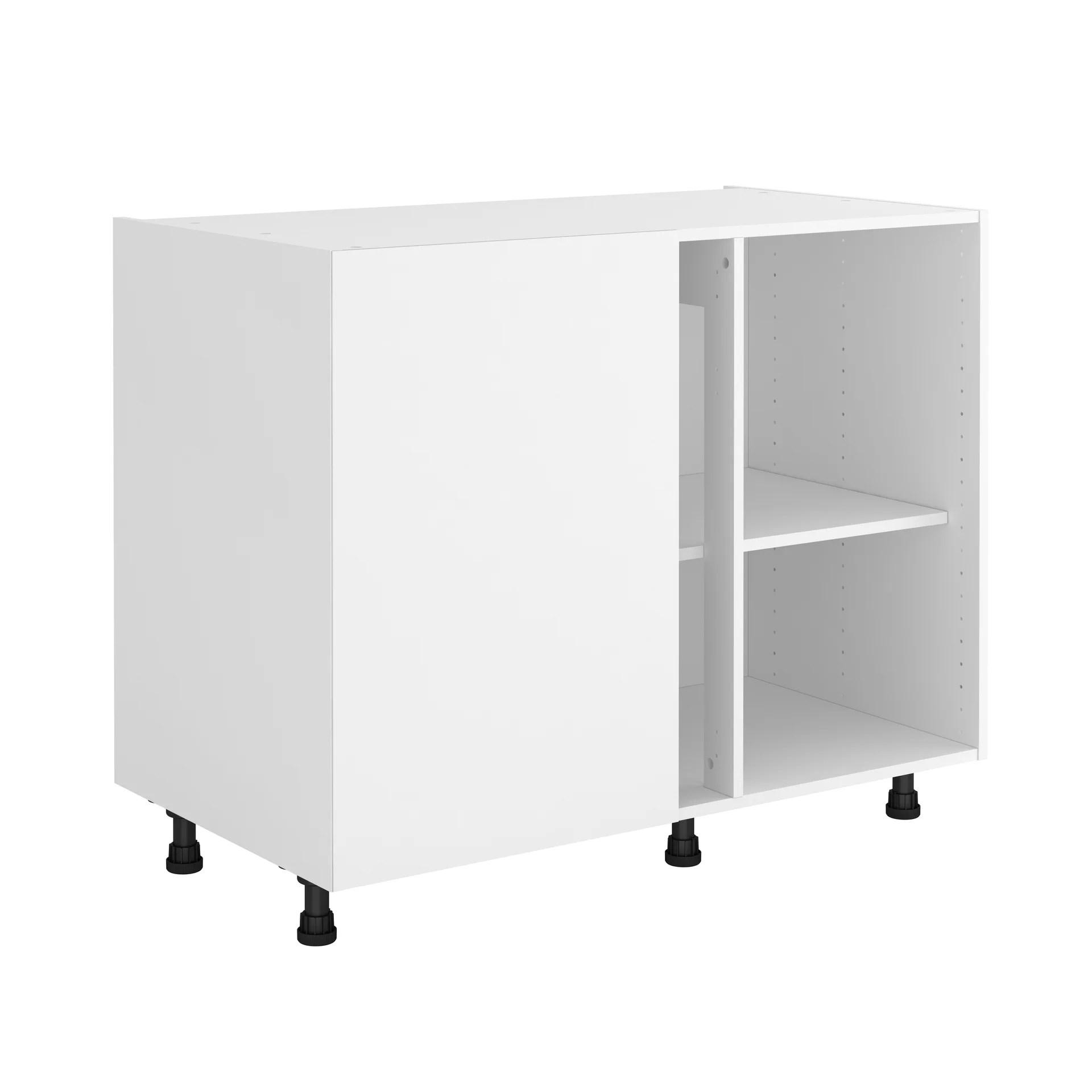 caisson de cuisine meuble bas d angle delinia id blanc h 76 8 x l 106 x p 58 cm