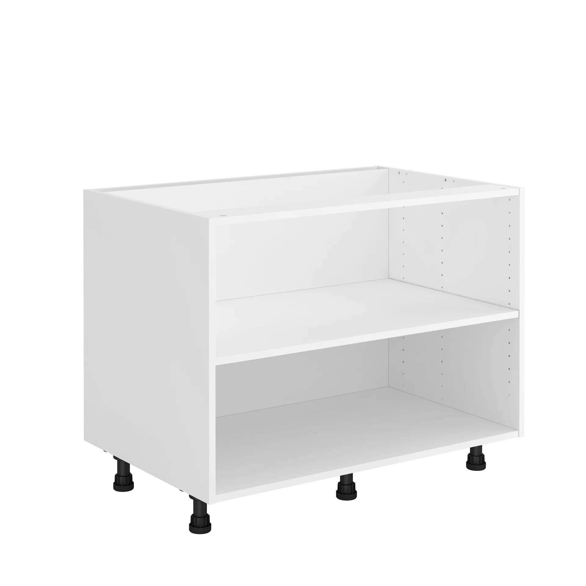 caisson de cuisine sous evier delinia id blanc h 60 8 x l 90 x p 58 cm