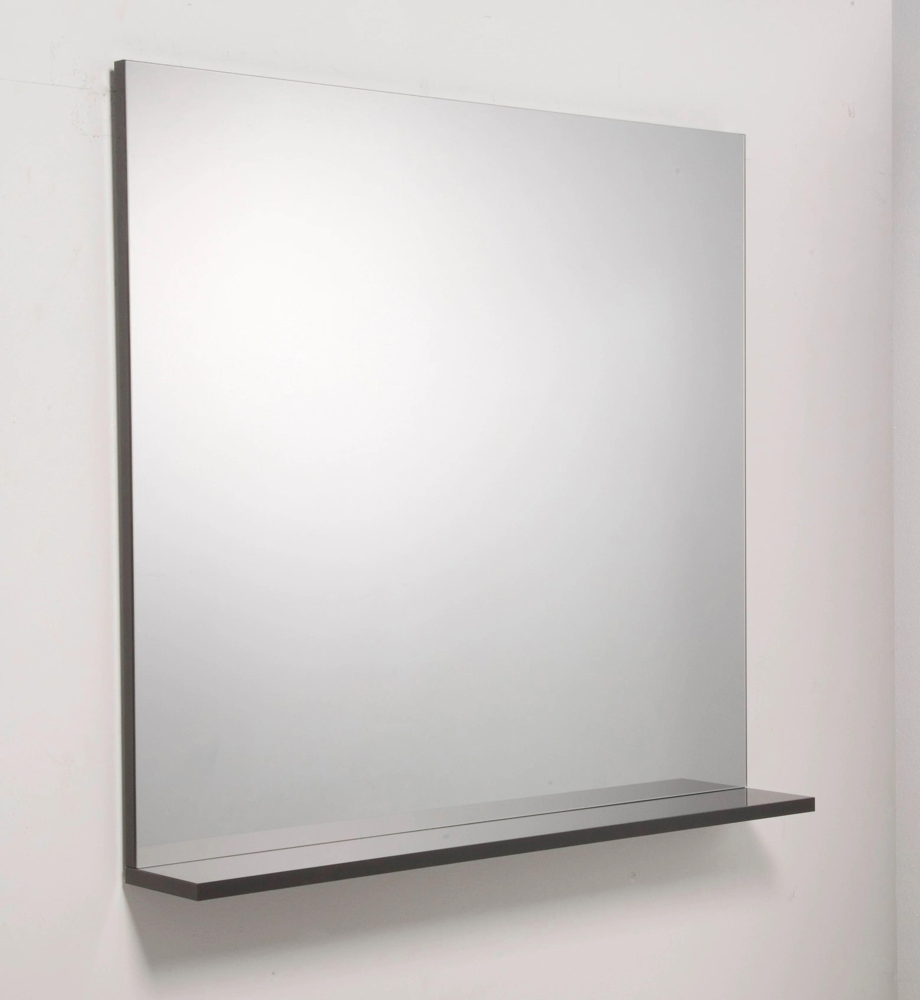 Miroir Avec Tablette Gris L 80 0 Cm Opale Leroy Merlin