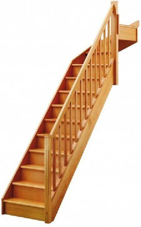 Escalier 1 4 Tournant Haut Droit Bois Hetre Soft Classic 13 Marches Hetre L 80 Leroy Merlin