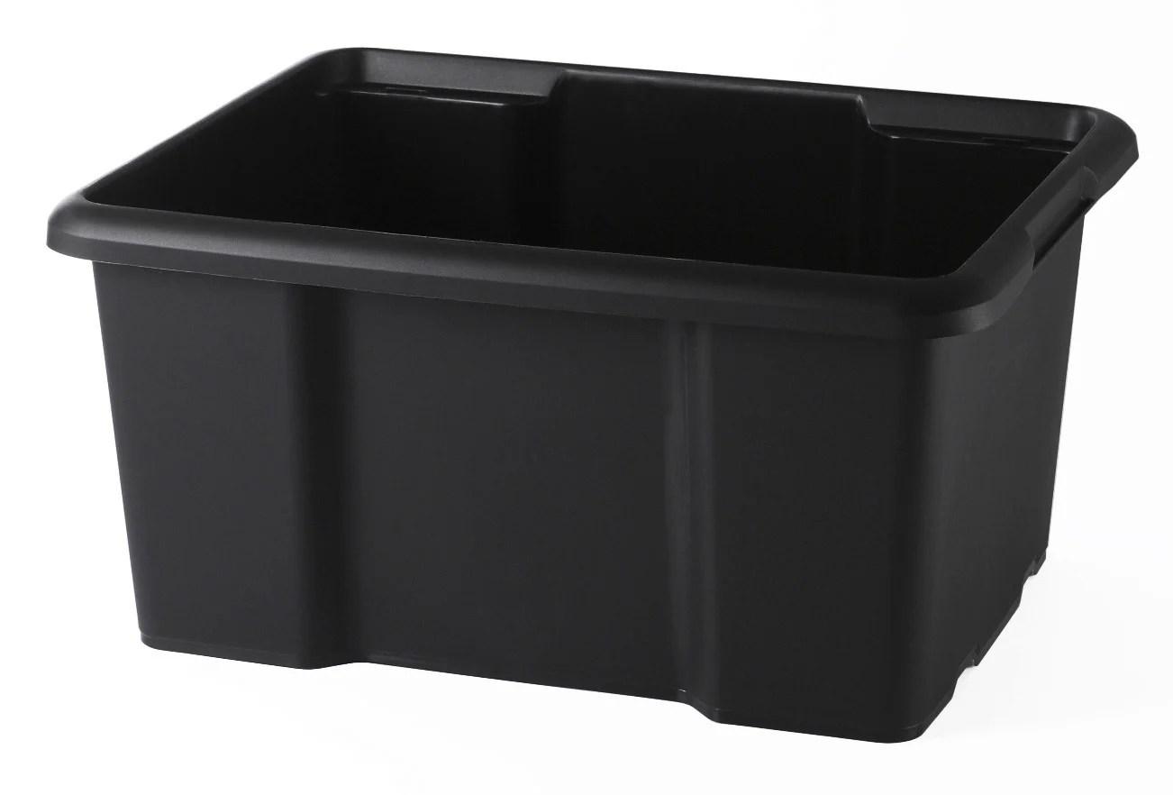 Bac Sundis Plastique Noir L 29 X P 38 X H 19 5 Cm Cm 15 L Leroy Merlin