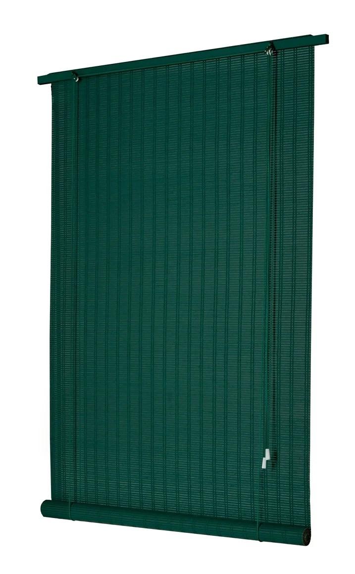store enrouleur tamisant bois tisse vert anglais 120 130 x 220 cm