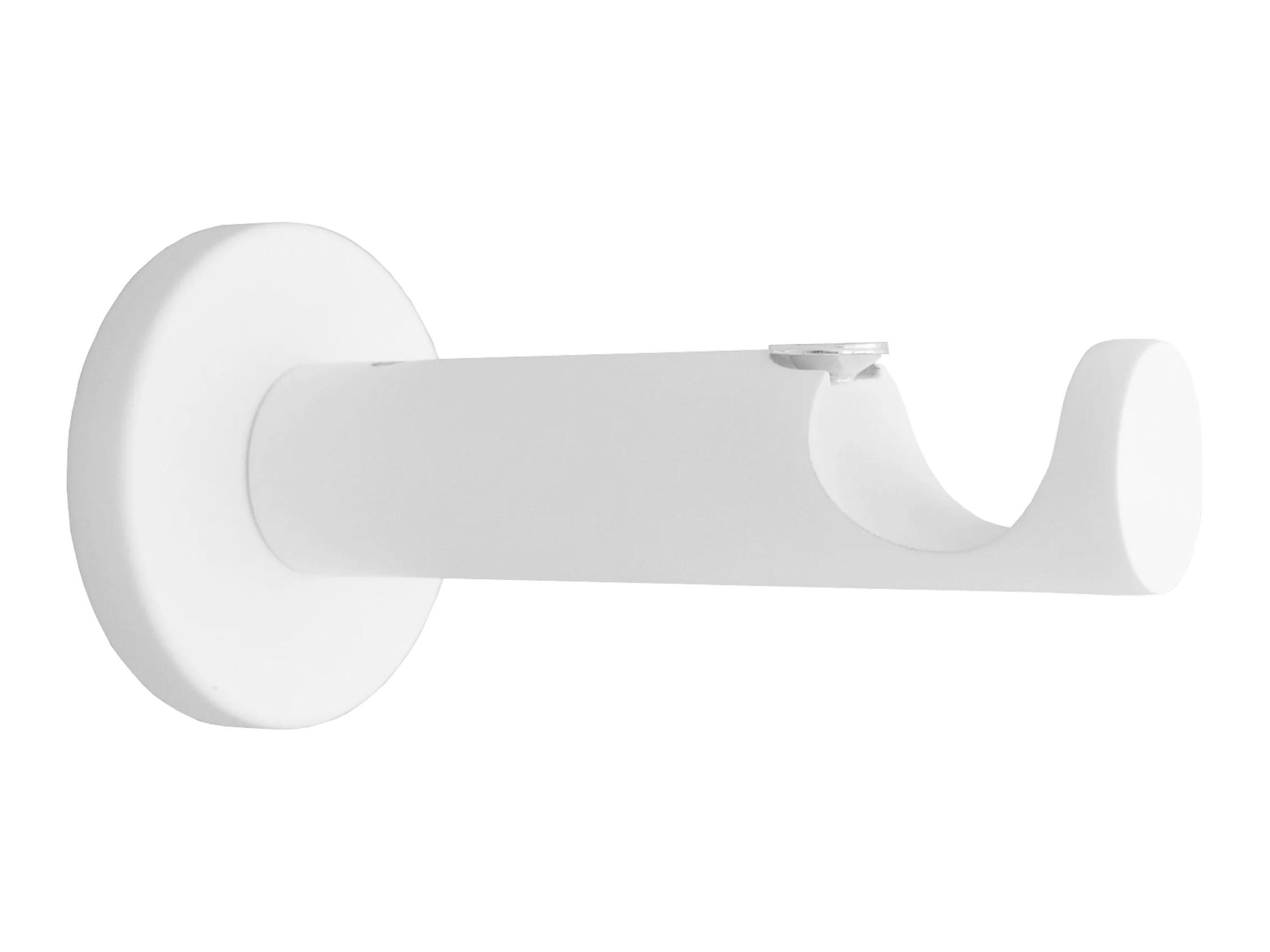 lot de 2 supports tringle a rideau design 20 mm blanc mat inspire