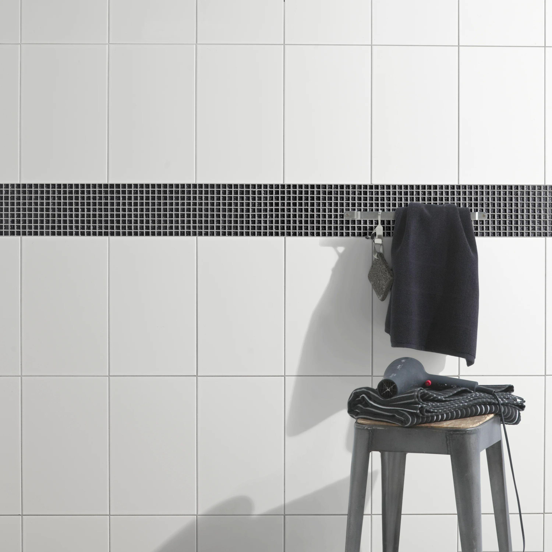 Faience Mur Uni Blanc Brillante L 25 X L 40 Cm Leroy Merlin