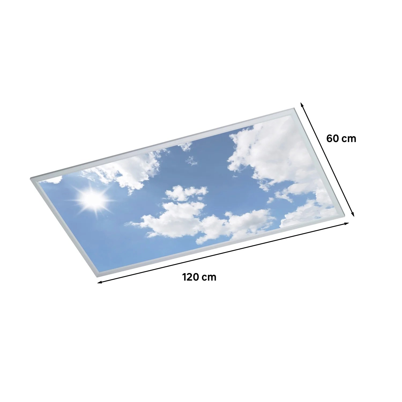 panneau led integree rectangle 120 x 60 cm 50 w ciel