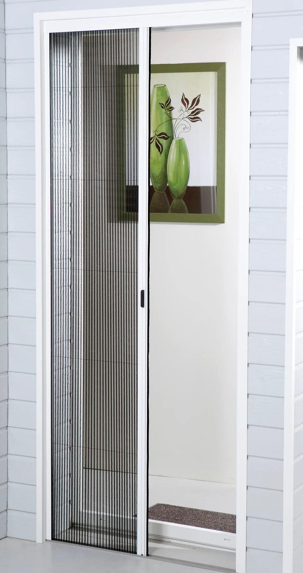 moustiquaire pour porte fenetre plissee moustikit h 230 x l 140 cm