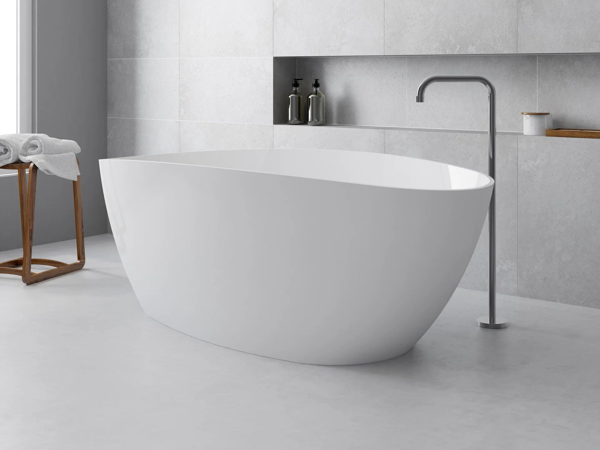 baignoire ilot l 71 x l 156 cm blanc stori