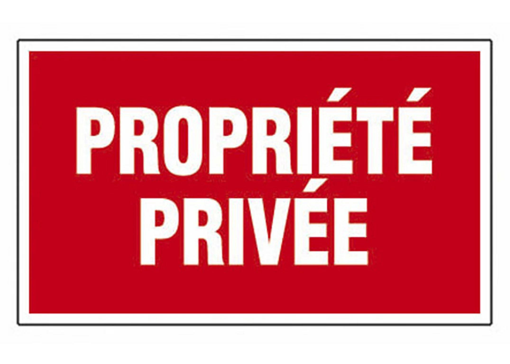 Plaque Propriete Privee En Plastique Leroy Merlin