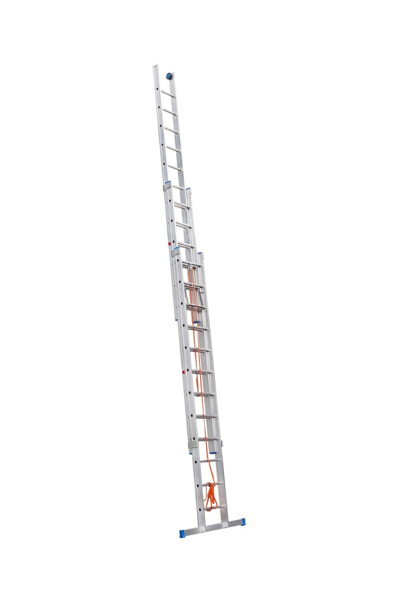 Echelle Coulissante Aluminium Hailo 3x12 Echelons H 7 53 M Leroy Merlin