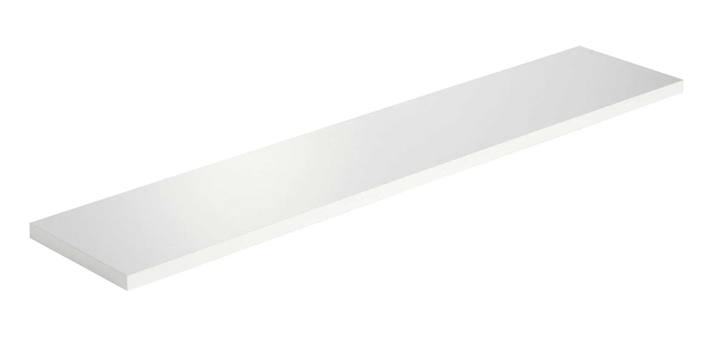Etagere Murale Blanc L 80 X P 18 Cm Ep 18 Mm Leroy Merlin