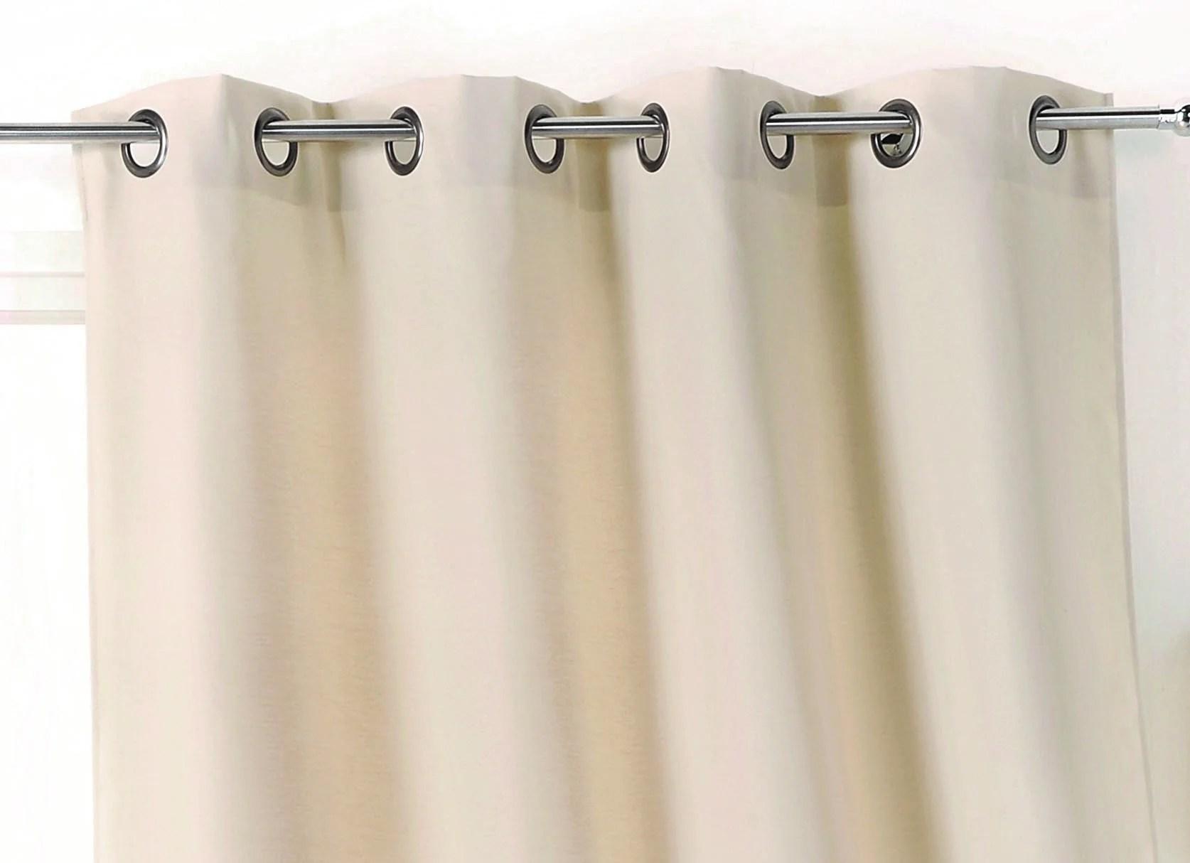 rideau obscurcissant thermique stop froid plus ivoire l 140 x h 250 cm