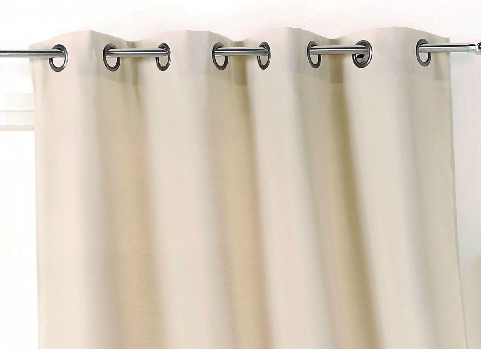 rideau obscurcissant toile exterieure ecru l 135 x h 240 cm