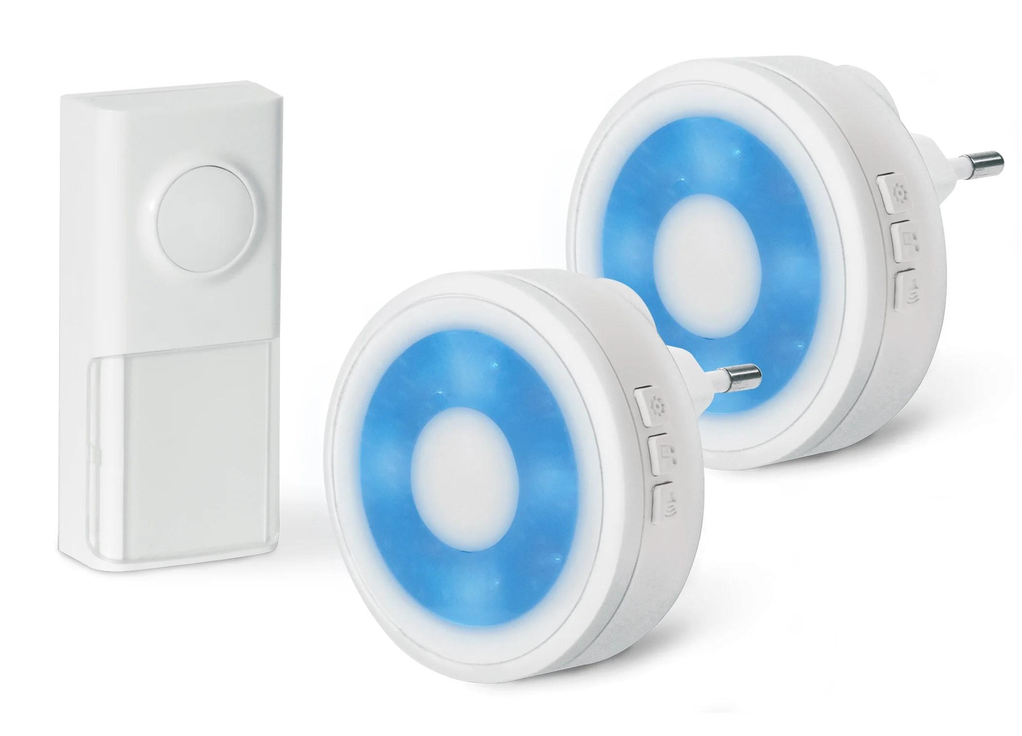 Lot De 2 Sonnettes Sans Fil Sans Pile Scs Sentinel Ecobell 100 Light Leroy Merlin