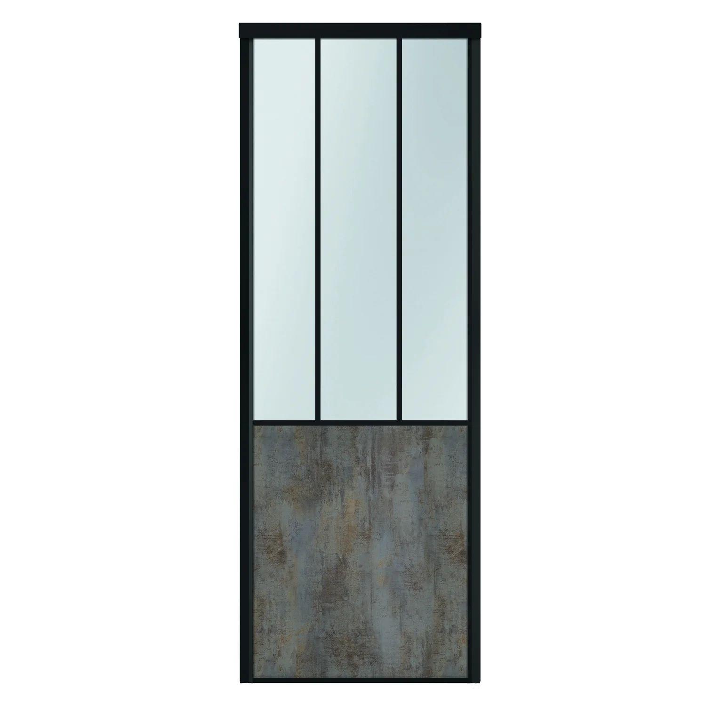 Porte De Placard Coulissante Sur Mesure Kazed Effet Atelier De 60 1 A 80 Cm Leroy Merlin
