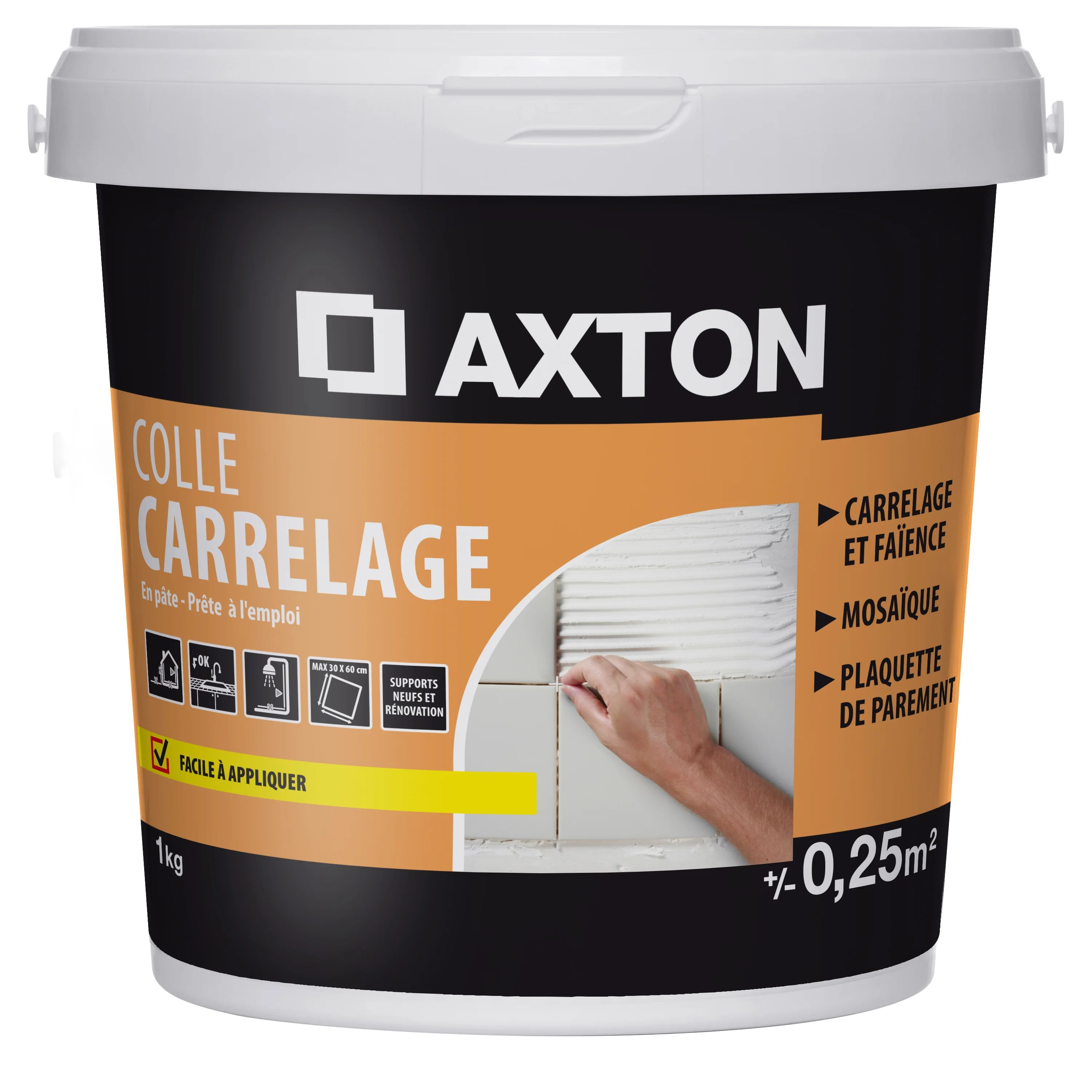 Colle Pate Axton Blanc 1 Kg 0 25 M Leroy Merlin