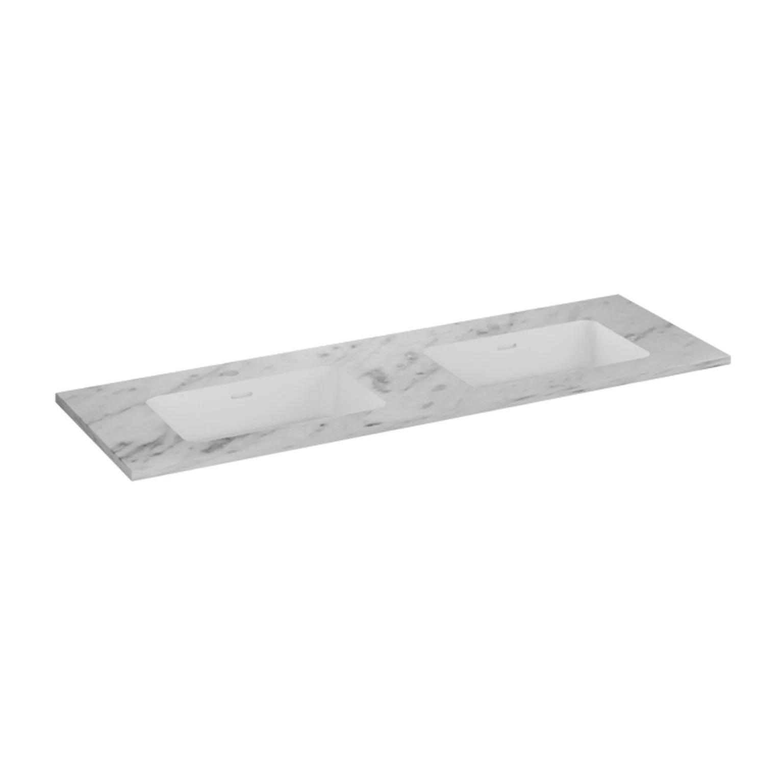 plan vasque simple kende kende blanc l 141 x p 46 cm