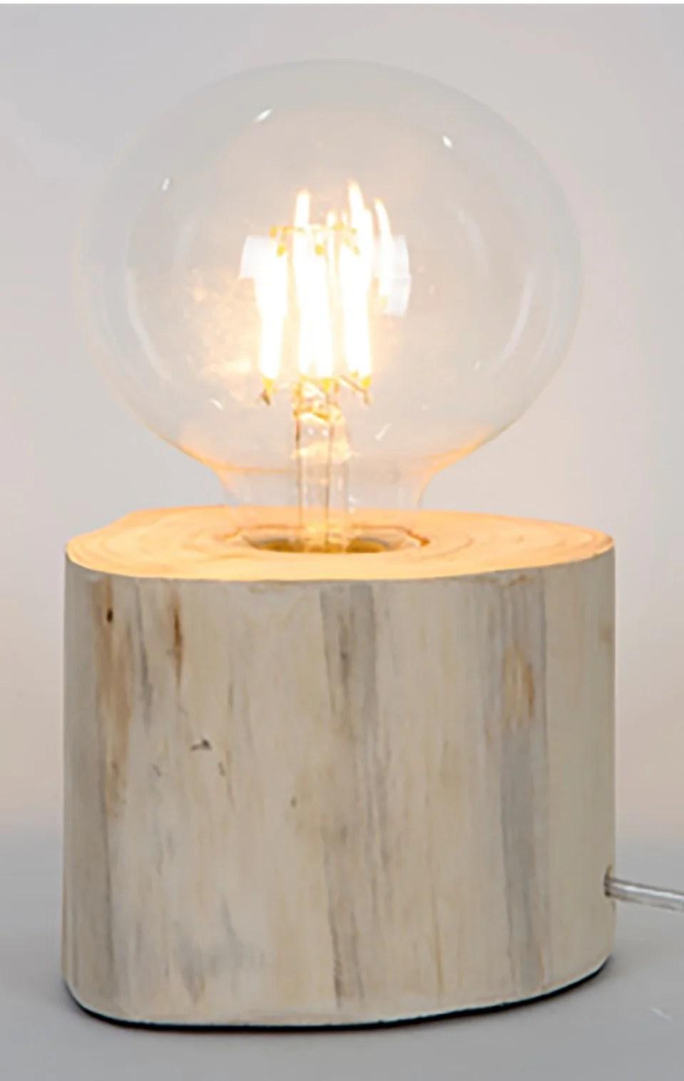 Lampe Charme Romantique Bois Sampa Helios Pam Leroy Merlin