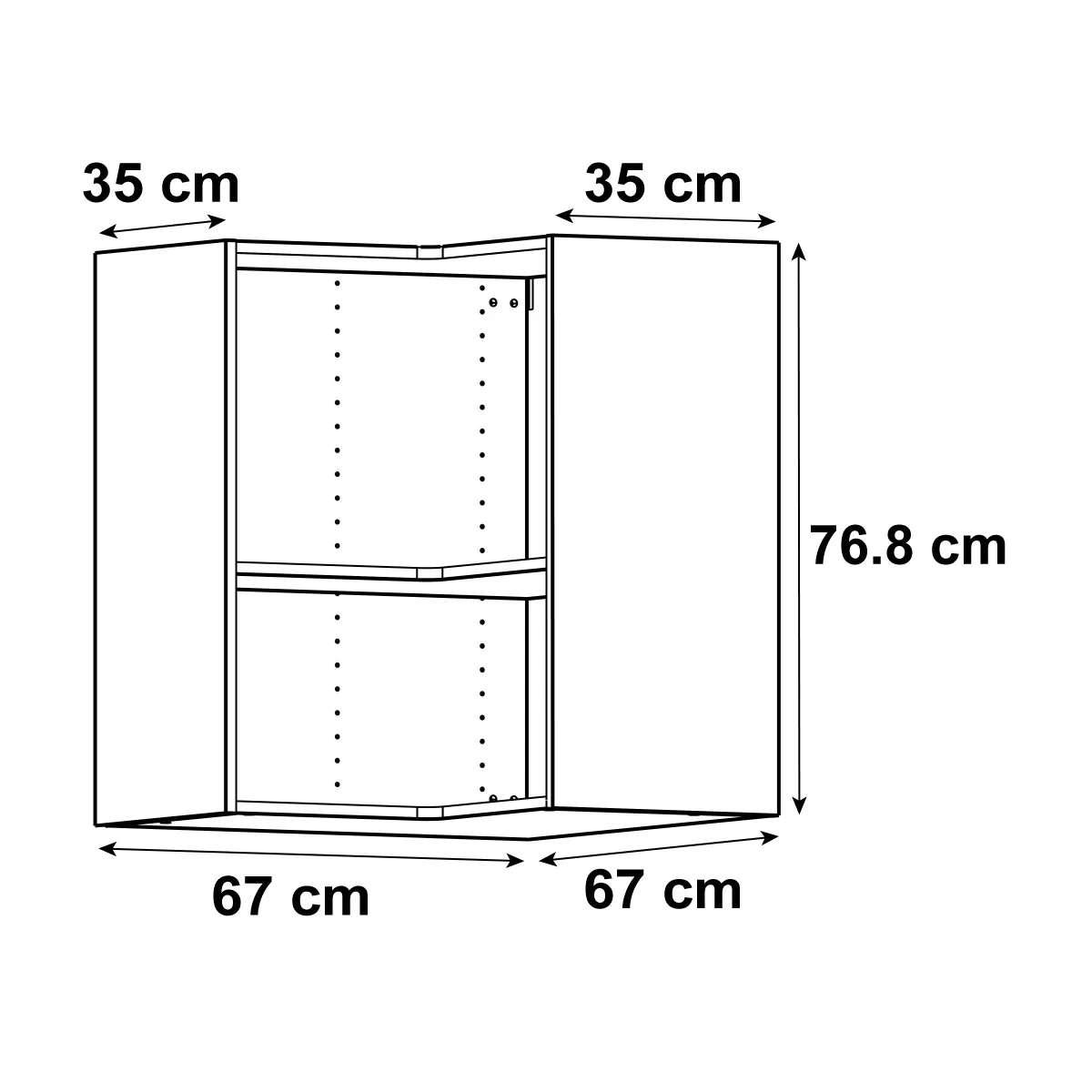 meuble de cuisine haut d angle delinia id h 76 8 x l 67 x p 35 cm