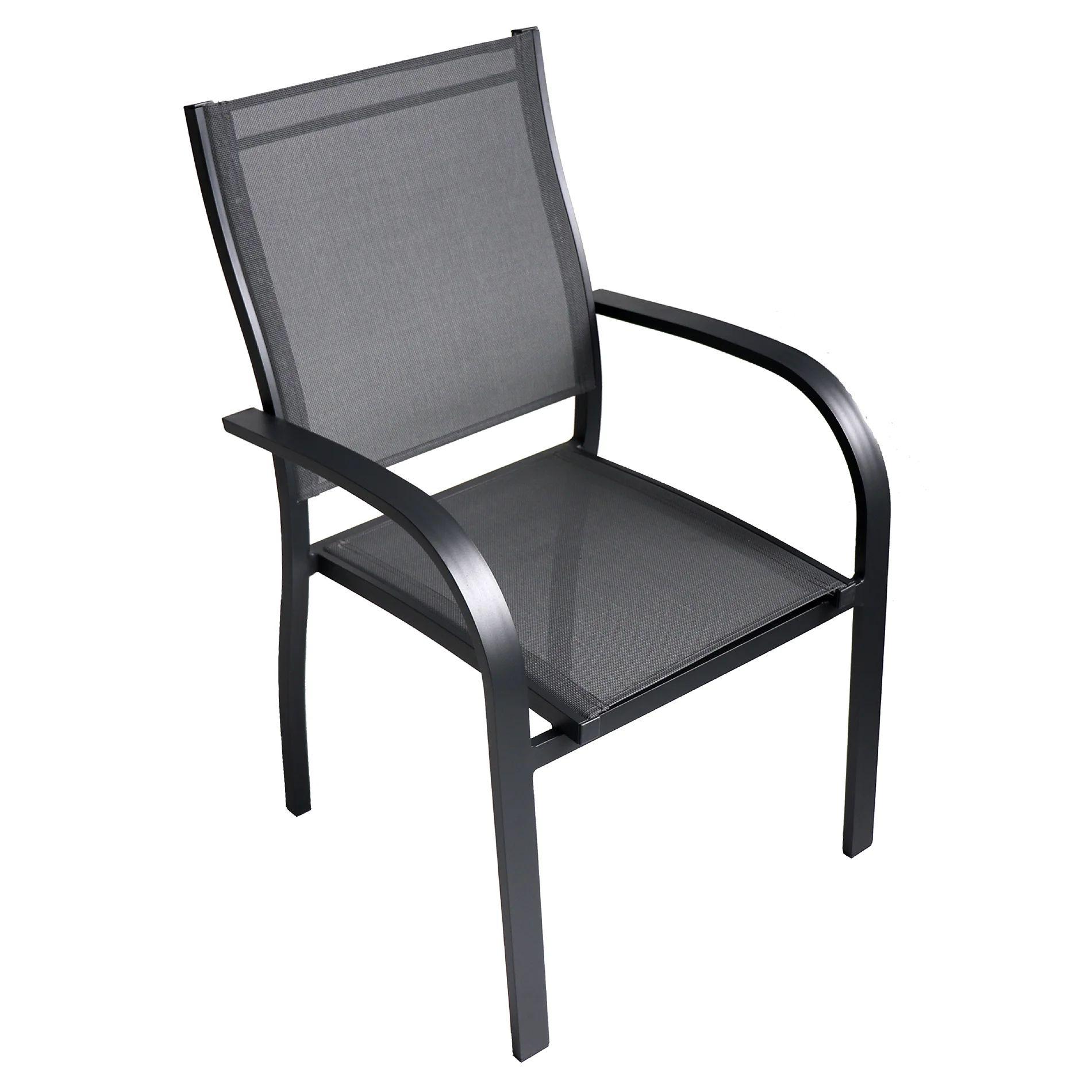 lot de 6 chaises fauteuil en aluminium