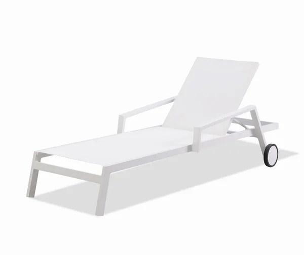 bain de soleil en aluminium ibiza blanc