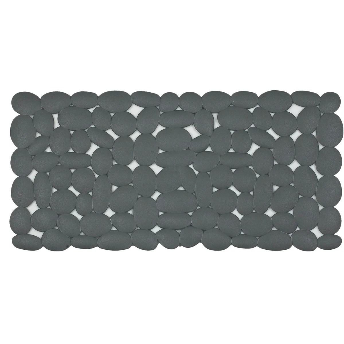 tapis antiderapant gris pour baignoire marathon