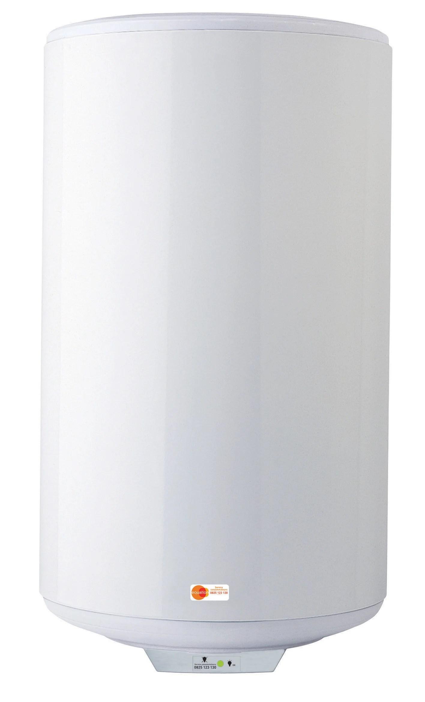 Chauffe Eau Electrique Vertical Mural Equation Titane Electronique 75 L Leroy Merlin
