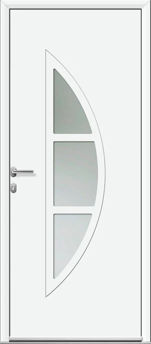 Porte D Entree Alu Omaha 2 Essentiel H 215 X L 90 Cm Vitree Blanc Pou Droit Leroy Merlin