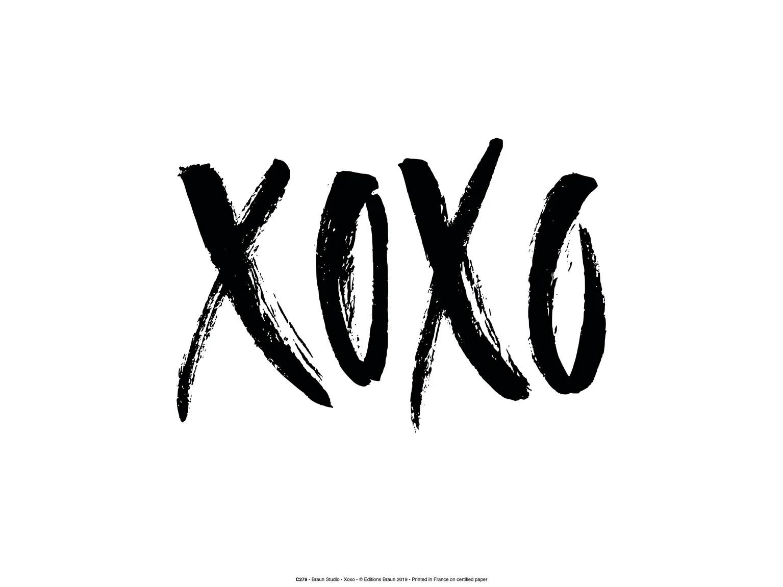 Affiche Xoxo Blanc Et Noir L 30 X H 40 Cm Leroy Merlin