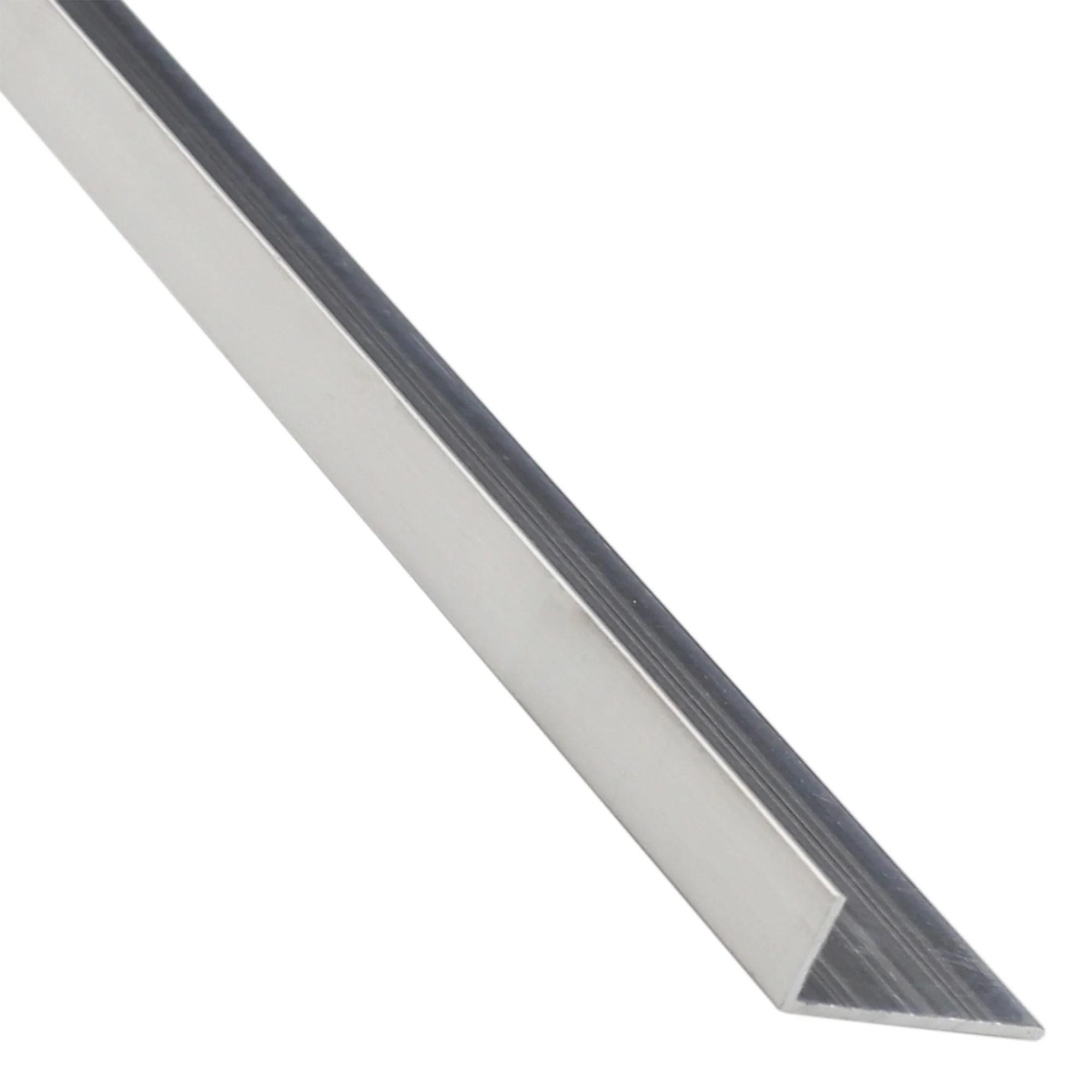 Corniere Inegale Aluminium Brut Gris L 2 6 M X L 1 95 Cm X H 1 15 Cm Leroy Merlin