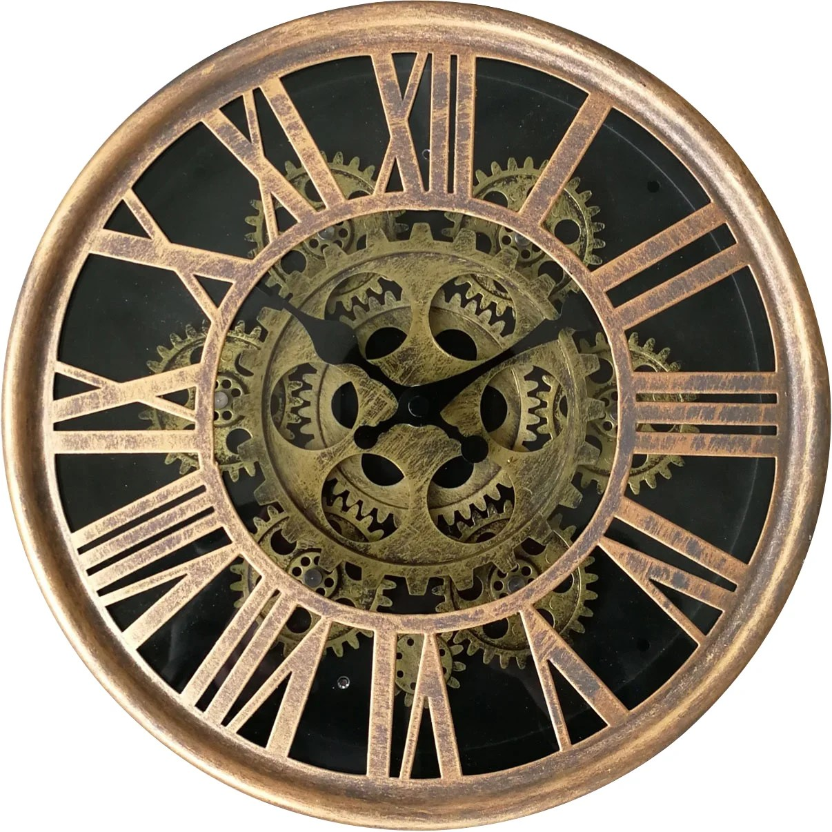 Horloge Metal Mecanisme Dore Diam 25 Cm Leroy Merlin