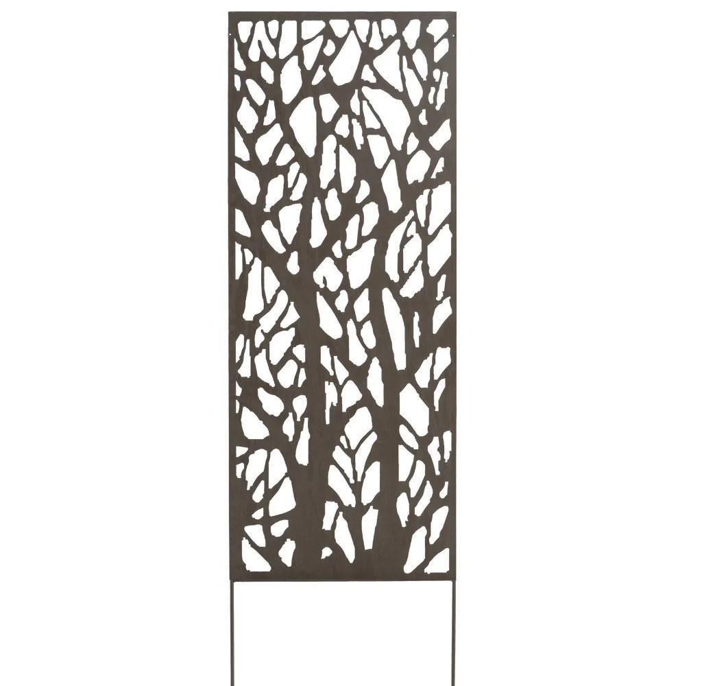 panneau metal decoratif arbuste l 60 x h 150 cm