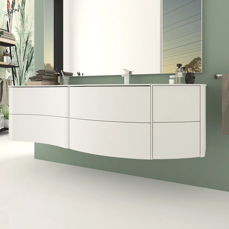 Meuble Simple Vasque L 150 X H 45 Blanc Mat Soho Leroy Merlin