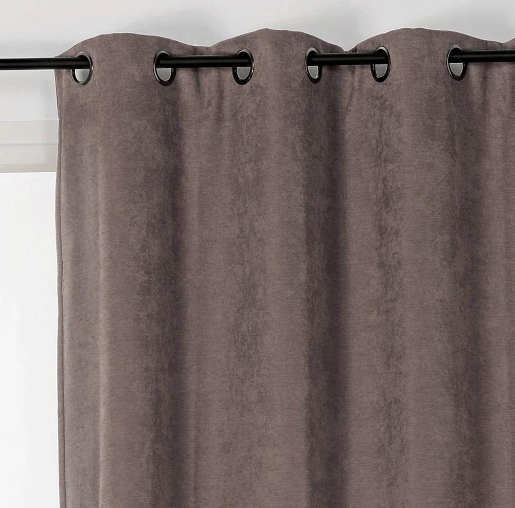 rideau occultant thermique alaska gris clair l 140 x h 260 cm
