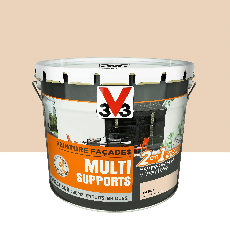 Peinture Facade Multi Supports V33 Sable Mat 10 L Leroy Merlin