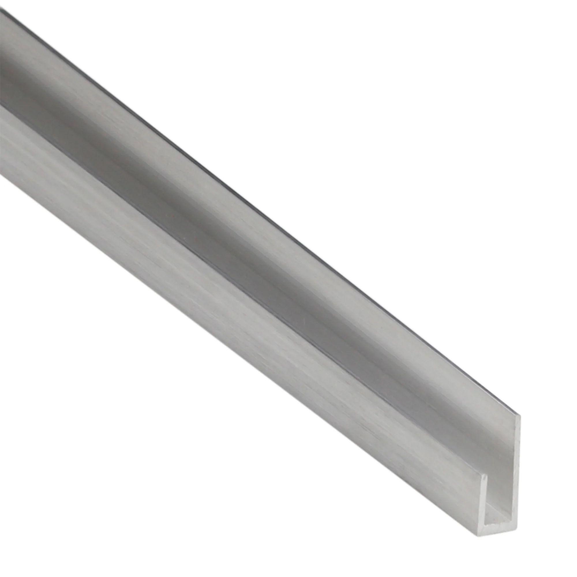 Cimaise Aluminium Anodise Brillant L 1 M X L 2 5 Cm X H 0 8 Cm Leroy Merlin