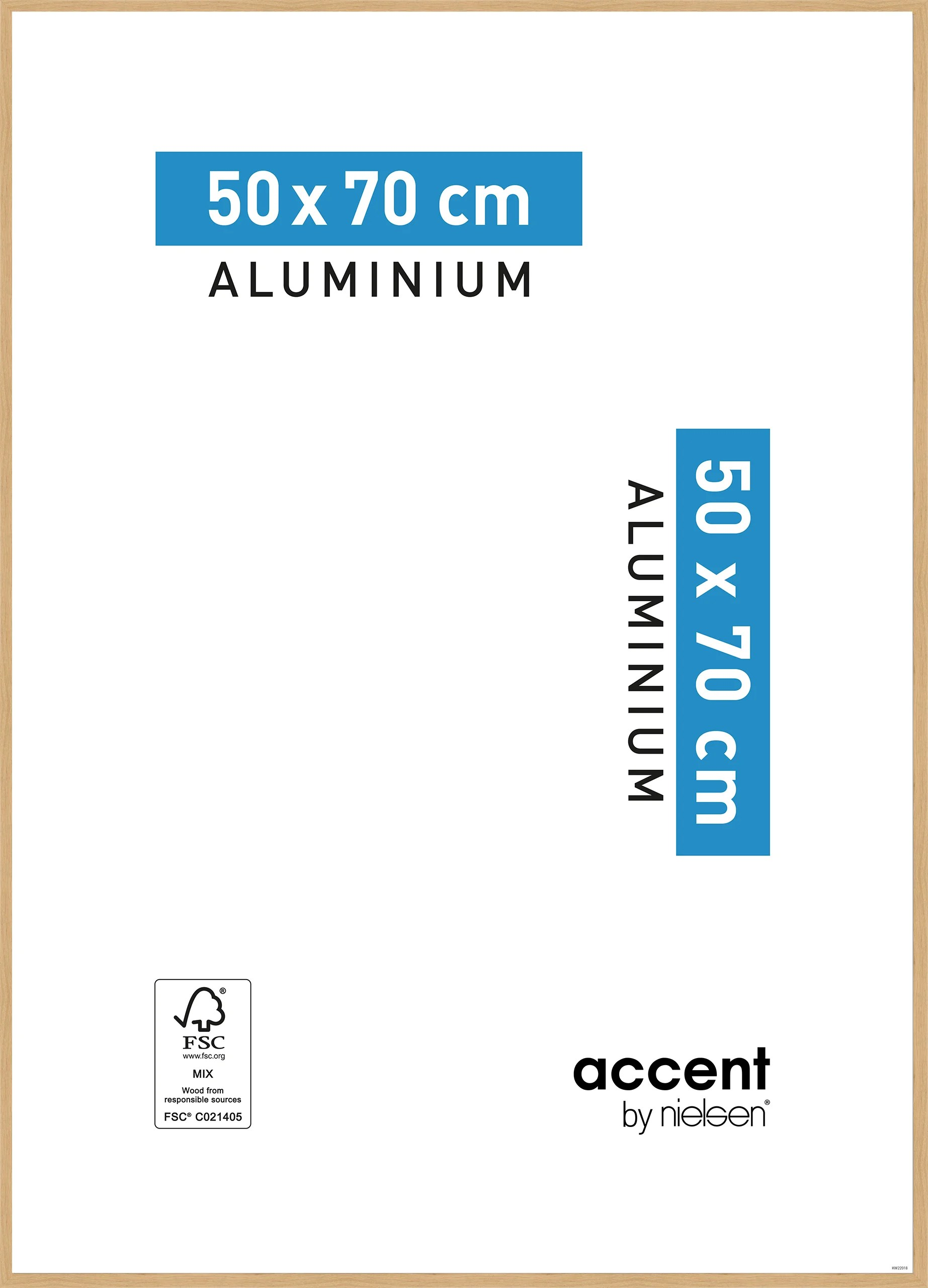 Cadre Accent 50 X 70 Cm Chene Clair Leroy Merlin