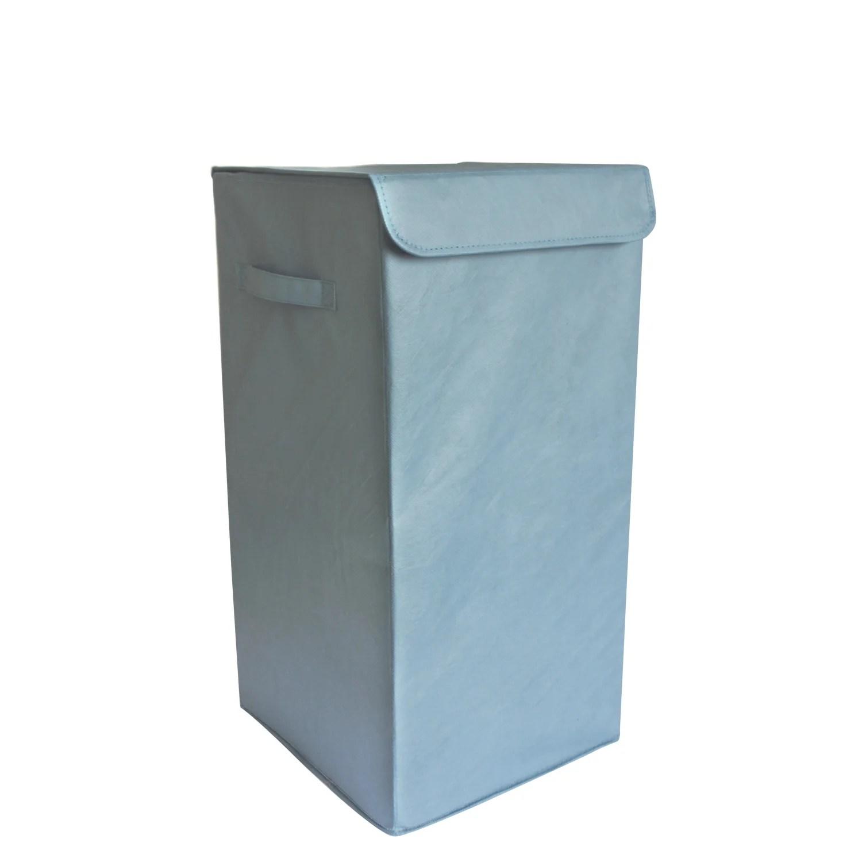 Panier A Linge Plastique Pliable Bleu L 30 X H 55 X P 30 Cm Leroy Merlin