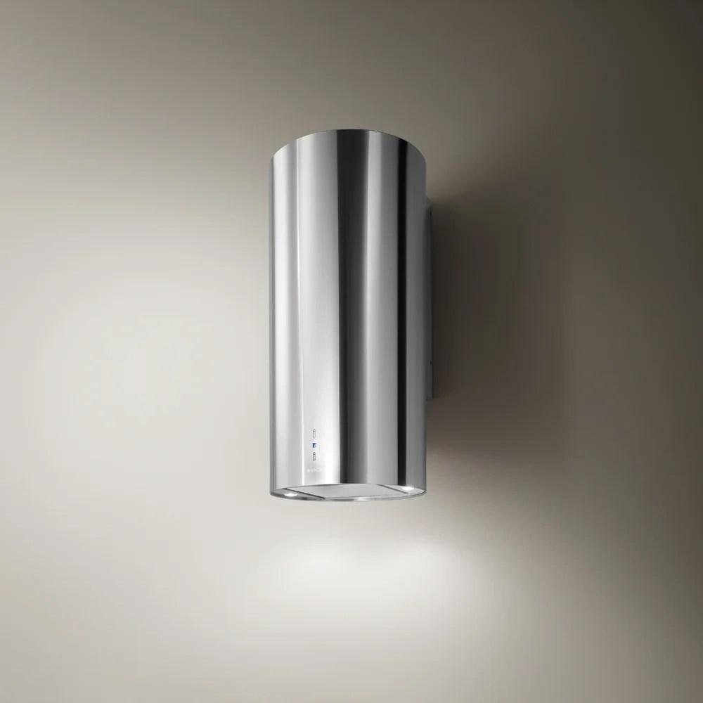 hotte ilot cylindrique l100 6 cm elica tube pro ix a 43 inox