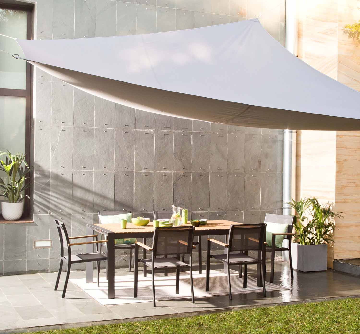 Voile D Ombrage Triangulaire Anthracite L 400 X L 300 Cm Leroy Merlin