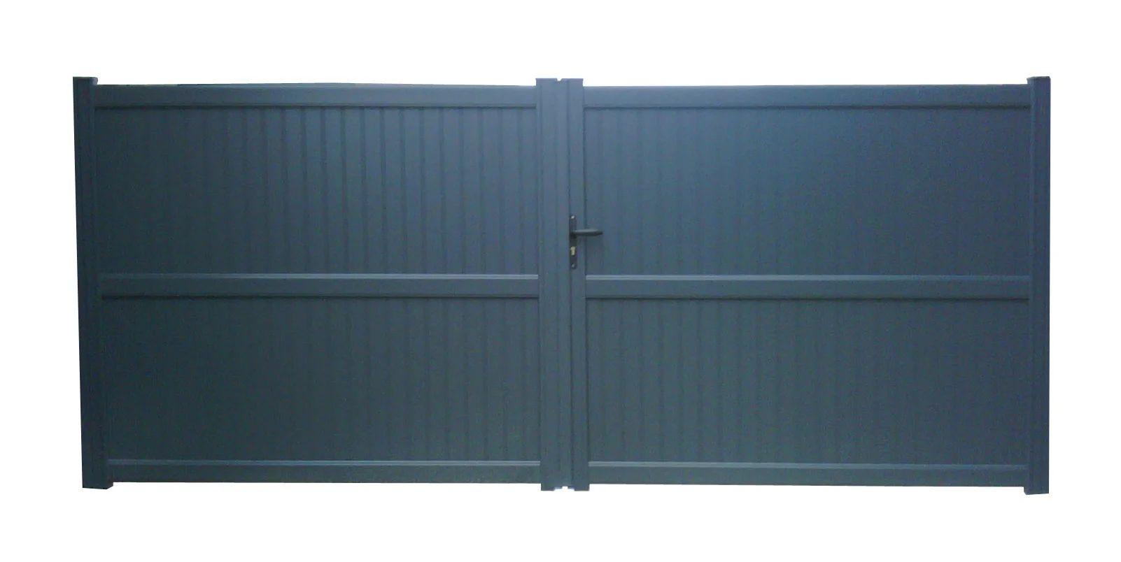 Portail Battant Aluminium Noyal Gris Anthracite Naterial L 299 X H 180 Cm Leroy Merlin