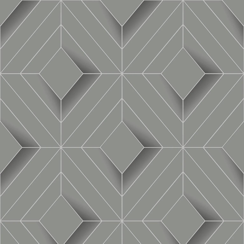 papier peint intisse galactik metal forge gris argent